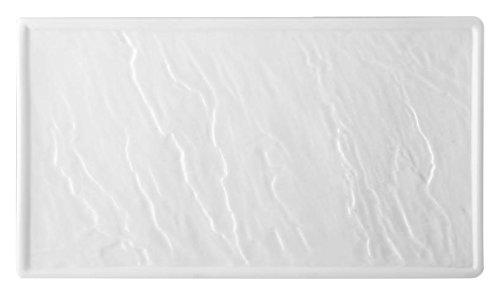 HOTELWARE Pierre Plat rectangulaire 31 x 17 cm, Porcelaine, Blanc