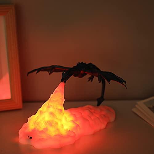 3D Gedruckt LED Drache Lampe Warm Rot Anime Figur Kinder Tisch Nachtlicht Innen für Zuhause Schlafzimmer Urlaub Dekoration Kinder Geschenke Nachtlichter