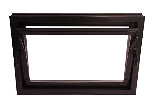 ACO 100cm Nebenraumfenster Kippfenster Isofenster braun Fenster Kellerfenster, Größe Kippfenster:100 x 60 cm