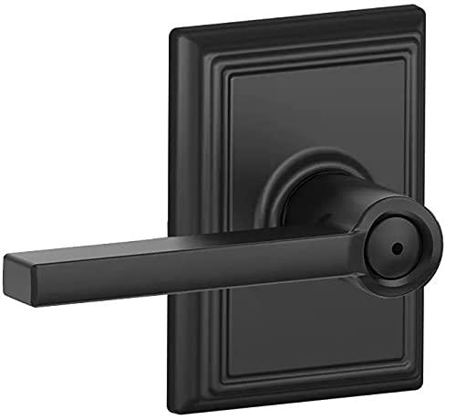 Schlage F40LAT622ADD Schlage F40-LAT-ADD Latitude Privacy Door Lever Set with Decorative Addison Trim