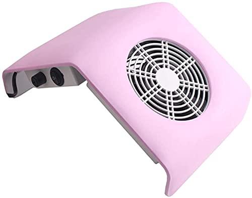 NYZXH Colector de Polvo de Arte de uñas succión Potente de uñas Polvo aspiradora máquina práctica salón manicura Herramientas de Limpieza Profesional Polvo Equipo Equipo Ajustable Velocidad, Rosa