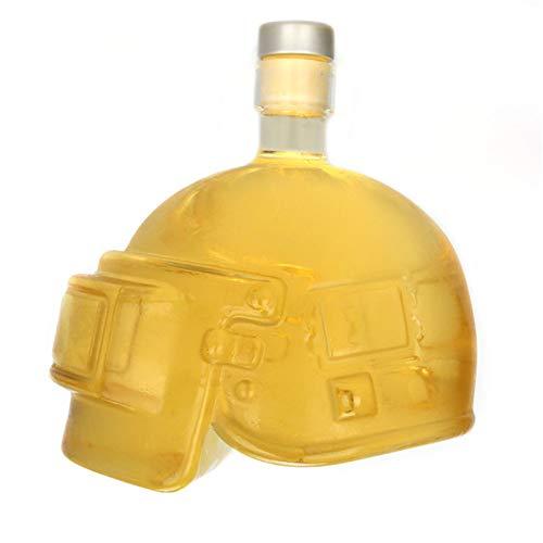 Casco Vino Decantador Head Bottle Glassware Diamond Whiskey Decanter, para Ron, Bourbon Whisky Vidrio Vino Decantador Botella de Botella Herramienta