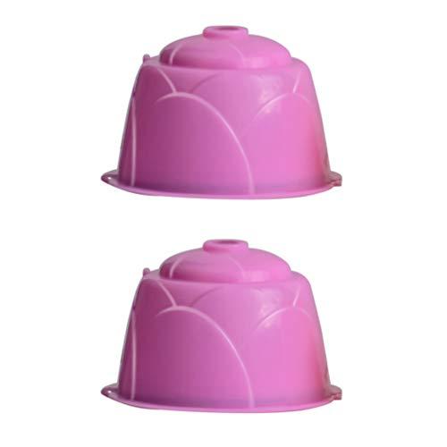 Hemoton 2 Stks Herbruikbare Koffiefilter Koffiecapsules Pot Cup Voor Koffiezetapparaat Machines (Willekeurige Kleur)