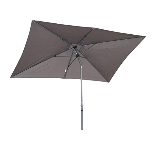 Angel Living Parasol en Aluminium 2x3M Parasol inclinable,Parasol pour Patio et Jardin (Gris)