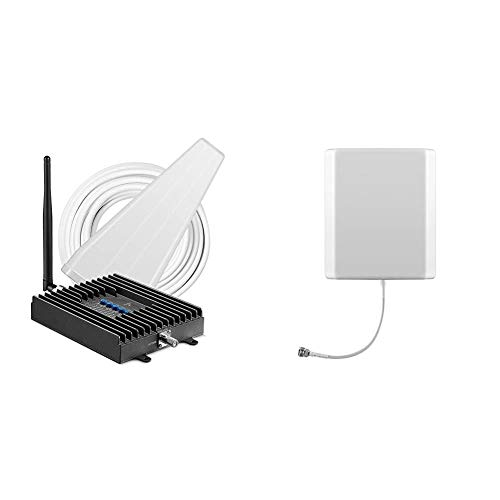 SureCall Fusion4Home Yagi/Whip, Cell Phone Signal Booster Kit for All Carriers 3G/4G LTE & Wide Band Directional Internal Wall Mount Panel Antenna (Includes mounting kit 698-2700 MHz)