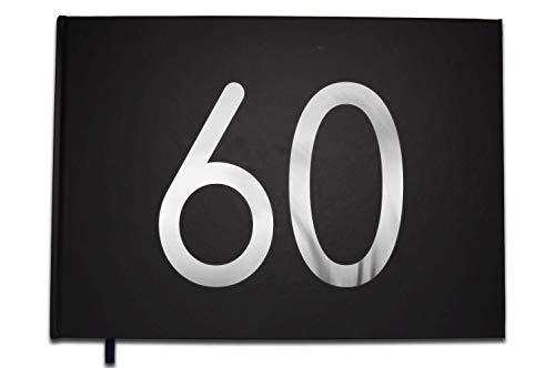 UTTSCHEID Livre d'or 60 Ans - Anniversaire, Mariage, Retraite - Lettres chromées -100 Pages - Qualité Premium Noir Carbone