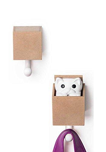 Kitt-A-Boo muurhaak kleur bruin