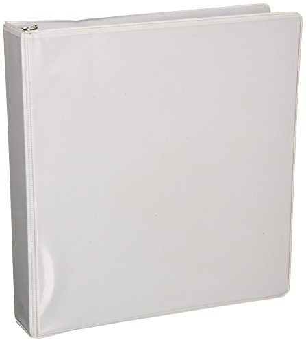 Business Source 1.5-inch Standard Presentation Binder - White (09983)
