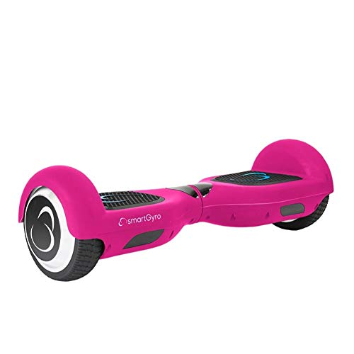 SMARTGYRO X2 P Patinete Eléctrico Hoverboard, Antipinchazos, Batería de Litio 4400 mAh, Velocidad Máxima 12 Km/h, Certificado UL, Unisex Niños, Rosa, 6.5 Pulgadas