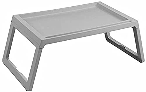 ZXC Mesa de Cama de computadora portátil, Bandeja de Desayuno Plegable, portátil Regazo de pie Escritorio portátil Soporte de Lectura para sofá sofá Suelo niños(M, Grey)