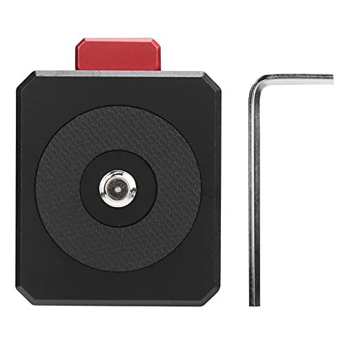 FOLOSAFENAR Adaptador de Montaje de cámara, Adaptador de Montaje de trípode de cámara Botón de liberación rápida Aleación CNC Fácil instalación Diseño de Montaje en V para batería de