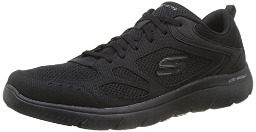 Skechers 52812-bbk_43, Zapatillas de Deporte Hombre, Negro, EU