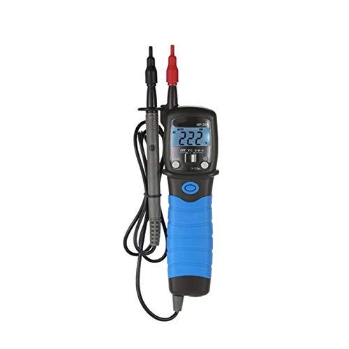 Yxwei Multímetro Digital, voltímetro Digital multifunción con Pantalla de Cristal líquido Detector de continuidad de Contabilidad de Alta precisión 6000 (Color : Black)