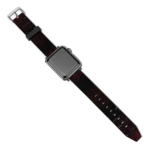 Superbe bracelet léger Spider Man pour Apple Watch – Bracelet tendance en cuir compatible avec les bracelets de montre en cuir pour Apple Watch Series 5/4/3/2/1/SE (38 mm/40 mm)