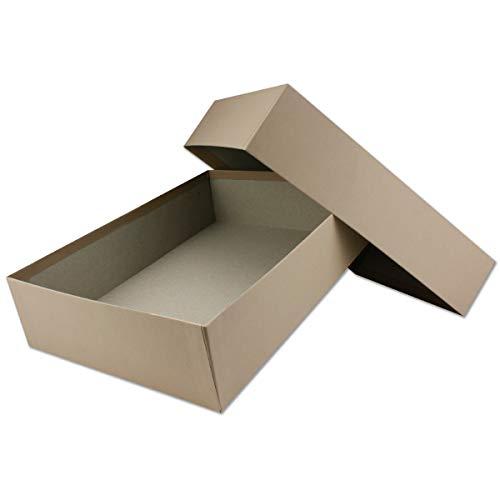Cajas de almacenamiento y regalo de alta calidad – 1 pieza – DIN A4 – capuchino (topo) – 302 x 213 x 70 mm