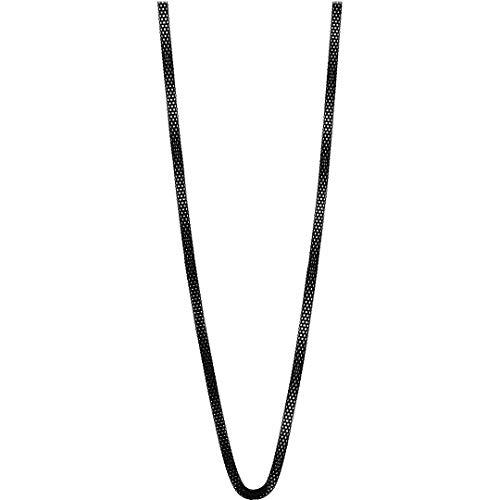 Bering Damen-Kette Milanaise für Charms Edelstahl schwarz, Länge:60 cm