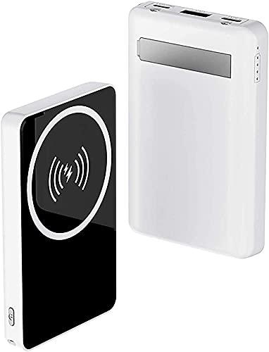 Star Garden Cargador Inalámbrico Magnético Potencia Rápida Mini Cargador Portátil Adecuado para Teléfono 12/12 Mini/Pro/MAX .(Color:Blanco)