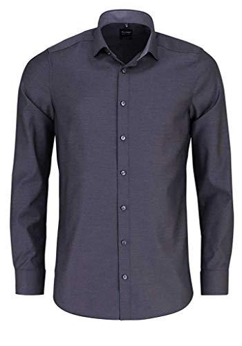 OLYMP Level Five Body fit Hemd Langarm Muster schwarz Größe 46