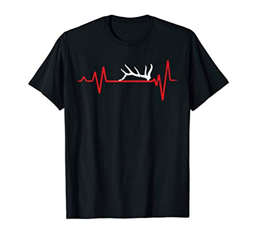 Shed antler hunters Heartbeat vintage - hunting antlers gift T-Shirt