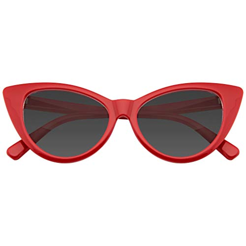 Emblem Eyewear Mujeres Moda Punta Caliente Vintage Señaló Las Gafas de Sol Ojos de Gato (Rojo, 0)