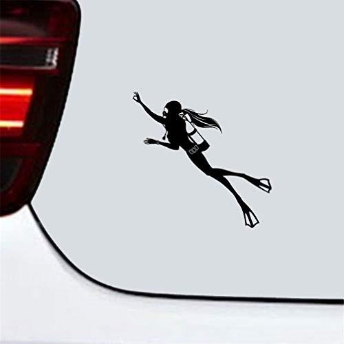 auto aufkleber 16,8x16,4 Cm Spezielle Aufkleber Mit Tauchen Bewegung Comic-figuren Der Taucherin Aufkleber Für Auto Laptop Fenster Aufkleber