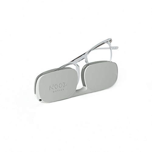 Nooz Gafas de lectura - Color Crystal Corrección +1.50 - Forma Cuadrada - Gafas Lupas para Hombres y Mujeres - Modelo Dino Colección Essential