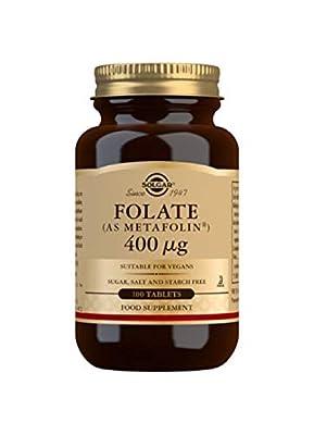 Solgar 400 mcg Folate Metafolin Tablets -100 Tablets from Solgar