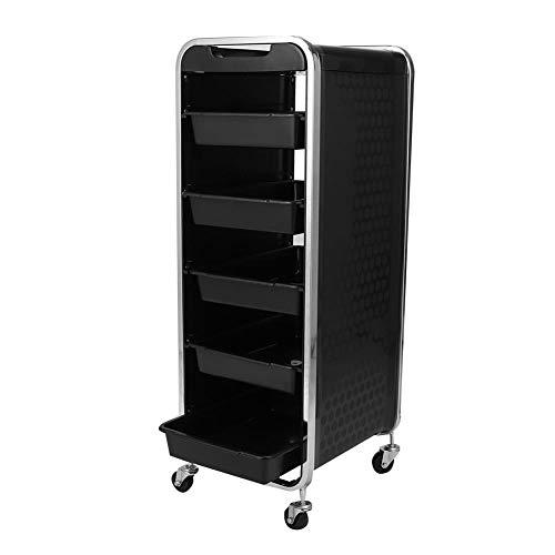 【𝐒𝐞𝐦𝐚𝐧𝐚 𝐒𝐚𝐧𝐭𝐚】 Carrito con ruedas, carrito para herramientas de belleza, carrito, 6 capas de alta calidad con ruedas, carrito de peluquería para salones de belleza, peluquería