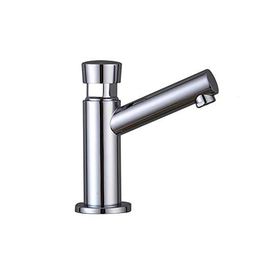 Cuarto de baño lavabo de cobre Tiempo de retardo del grifo táctil Pulse Auto de cierre automático individual de ahorro de agua fría Toque para Baños públicos, A4