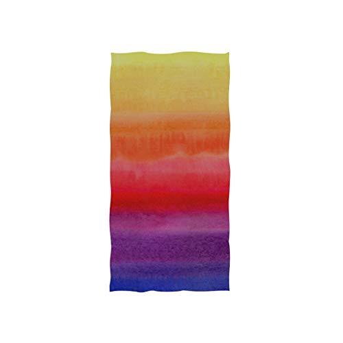 Handtücher 30x15in, helle bunte Aquarell-Flecken-quadratische Beschaffenheit, die dünnes Badezimmer-Tuch, Druck-weiches in hohem Grade saugfähiges kleines Badetuch für Badezimmer, Hotel, Turnhalle un