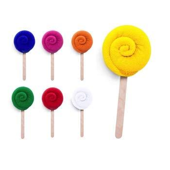 Lote de 30 Toallas de Pastel Pequeñas 14,5 cm alto - Toalla piruleta en absorbente y suave microfibra. Toallas para Detalles de Bodas, Comuniones, Bautizos