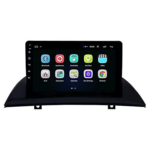 Coche con navegación GPS estéreo Android 9.1, para BMW X3 E83 2004-2012, con Pantalla de 9'Radio Multimedia CARPLAY/Dad/DVR/OBDII/TPMS incorporada, WiFi Incorporado
