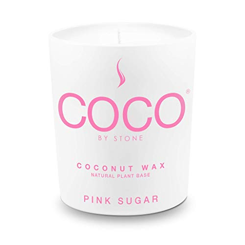 Stone Candle, COCO by Stone All Natural Coconut Wax Candle Pink Sugar 11oz