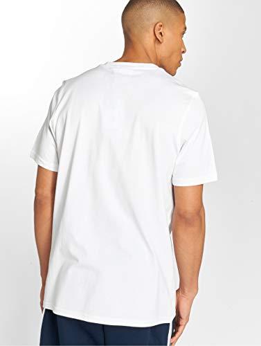adidas Trefoil Men's T-Shirt, Mens, tee Shirt, DH5772, White (White/Craft Orange White/Craft Orange), XS