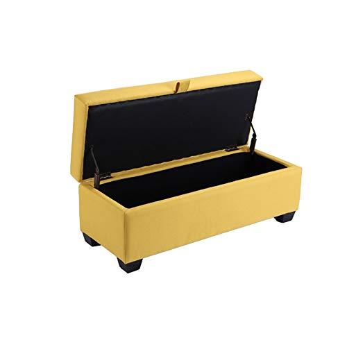 BKWJ Taburete de Almacenamiento Cuadrado, Taburete de sofá, Cambio de Zapatos Taburete de pie, Banco de Almacenamiento de Taburete de Taburete, Amarillo (Size : 100X40X40cm)