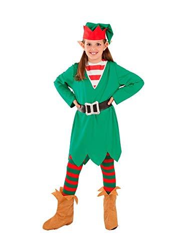 DISBACANAL Disfraz Elfa de la Navidad para niña - -, 4 años