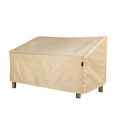 Hentex Outdoor Patio Loveseat Bench Deep Lounge Sofa Furniture Cover