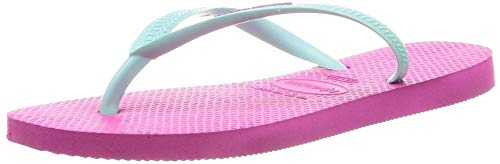 Havaianas Slim Logo, Chanclas para Mujer, Rosa (Hollywood Rose/Ice Blue 2397), 33/34 EU