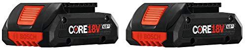 Bosch GBA18V40-2PK 18V CORE18V Lithium-Ion 4.0 Ah Compact Batteries 2 Pk.