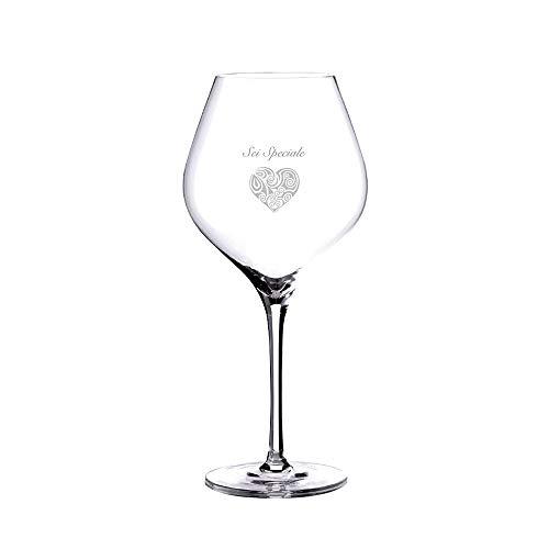 Logotec srl - Copa Elite. Copa de vino personalizada con nombre y logo: idea de regalo original para cumpleaños, aniversarios, fiestas, ocasiones especiales. Cristal y grabado de alta calidad.