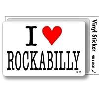 ILBT-148 アイラブステッカー I love ROCKABILLY (ロカビリー) ステッカー