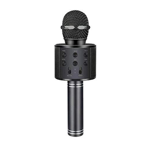 ABMBERTK Bluetooth Karaoke Mikrofon , Drahtloses Mikrofon , Professiona Lautsprecher Handheld MikrofonPlayer, Schwarz