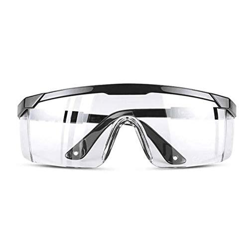 DIDIOI Arbeitsschutzbrille, Airsoft Arbeitsschutzbrille Staubwinddichtes Anti-Fog Brille Augenschutz Schutz Artikel,Schwarz