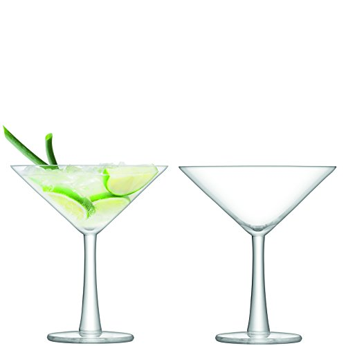 LSA International Gin Verre à Cocktail Transparent 220 ML X 2, Lot de 2