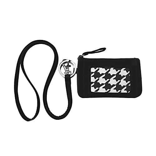ANNAMITO POP Wonderful Pattern Cotton Zip ID Case Wallet Marble Card Badge Holder With Key Ring Coin Lanyard For Girl Ladies Women Gift