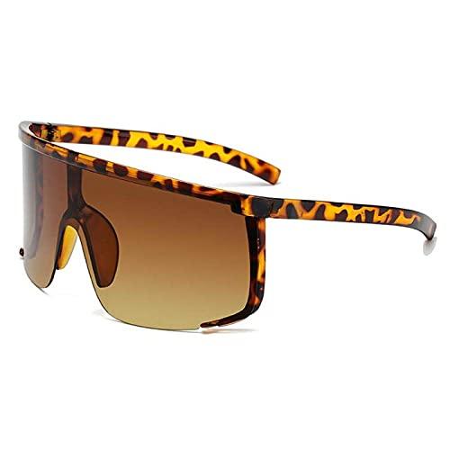 QWKLNRA Gafas De Sol para Hombre Lente Marrón Marco Leopardo Polarised Sports Sunglasses Gafas De Sol Impermeables para Hombre Gafas De Sol De Ciclismo Motocicleta Moda Ciclismo Al Aire Libre Sende