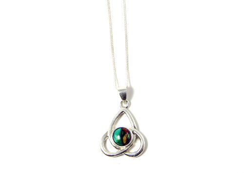 Biddy Murphy Celtic Knot Necklace Sterling Silver Trinity Knot Made in Scotland