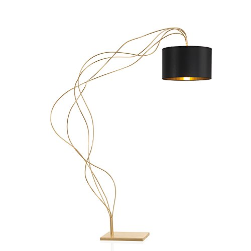 TrediciDesign vloerlamp Dino Sauro in bladgoud | Handgemaakt in Italië | Lamp | Staande lamp E27