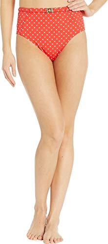 LAUREN RALPH LAUREN Pindot Damenhose mit hoher Taille und Gürtel - Rot - 36