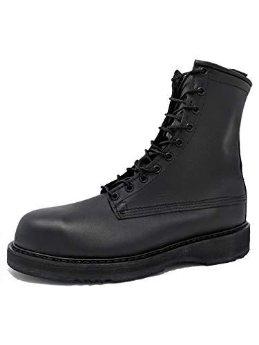Bates 1950 Mens 8' Army/Navy Black Steel Toe Boot 9D (M) US